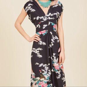 Modcloth Japanese Inspired Maxi Dress XL